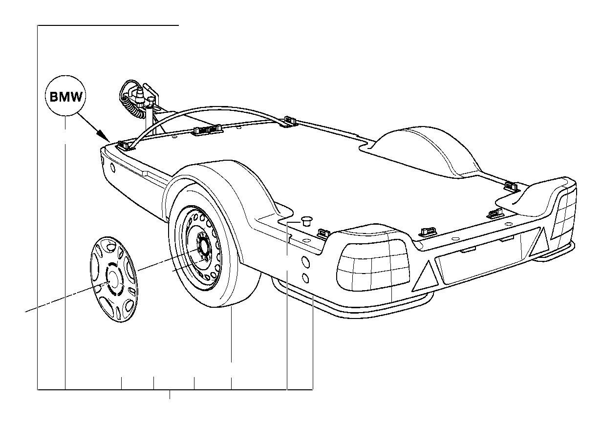 Bmw 528i Wheel Cover 15