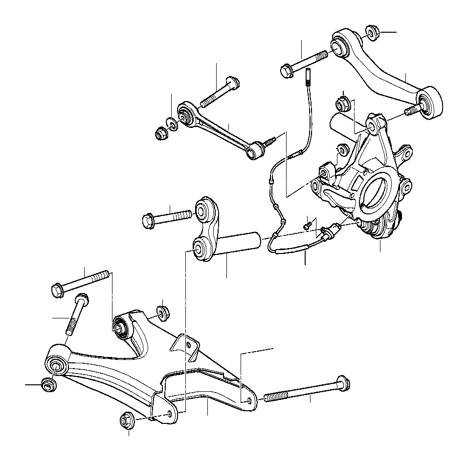 1997 BMW 540i Eccentric flat washer. Suspension, axle