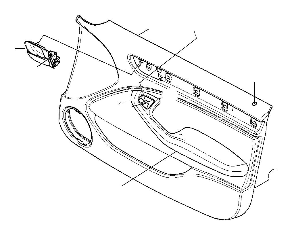 1999 BMW 323i Door handle, inside left. Trim, Front