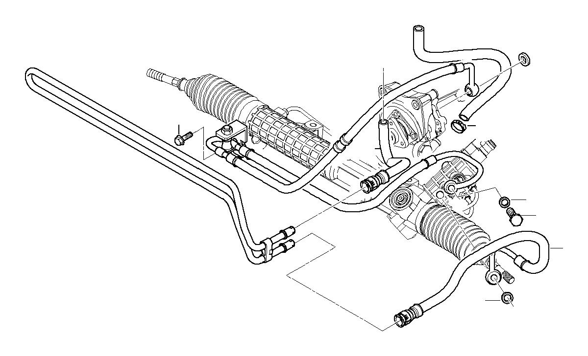 BMW 323i Banjo bolt with check valve. M14X1, 5X27, 4