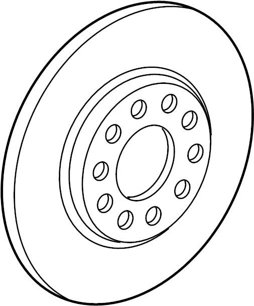 BMW M4 GTS Carbon ceramic brake disc, left. 400X38