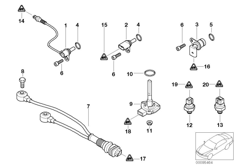 1980 BMW Camshaft position sensor. Cylinder, Head, System