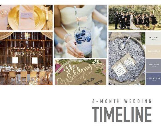 6Month Wedding Timeline Simple  Super Complete Planning Tool