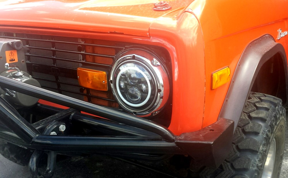 medium resolution of 1966 1978 ford bronco and f series truck black led headlights w halo