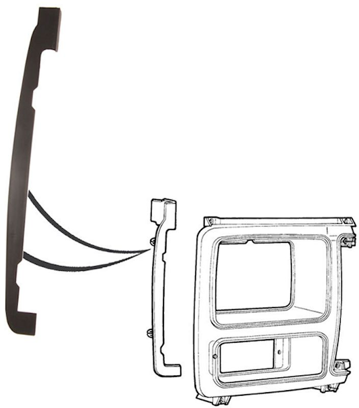 1980-1986 Ford Bronco & Ford Truck Grille Support