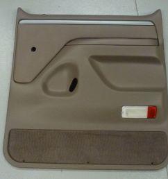 1992 1997 ford f series truck right rear door panel mocha manual window  [ 1455 x 1335 Pixel ]