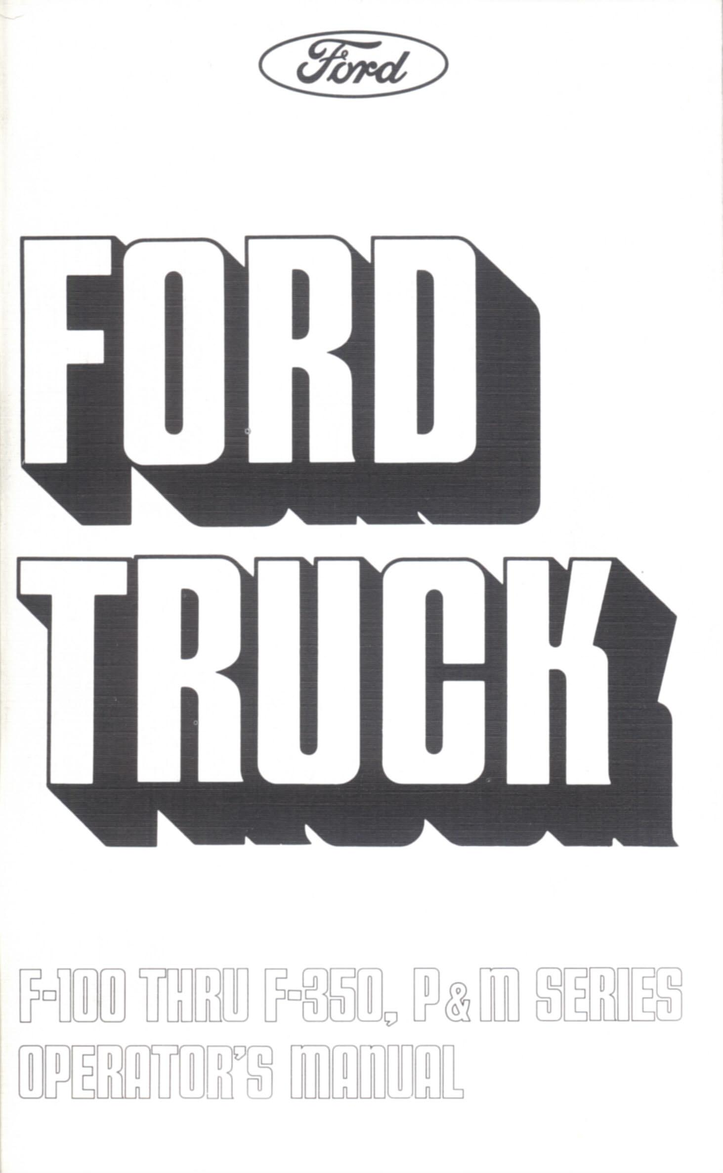 1974 Ford Truck Owners Manual-Broncograveyard.com