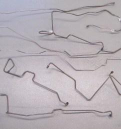 1993 1994 ford bronco brake line set 9 pcs stainless steel [ 1200 x 824 Pixel ]