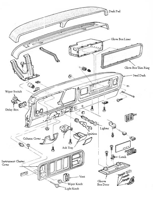 1973-1979 Ford Bronco and F Series Truck Glove Box Door-Broncograveyard.com