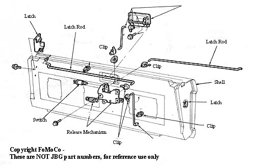 1990 ford bronco tailgate wiring diagram