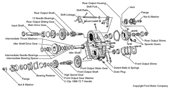 1997 ford explorer transfer case diagram