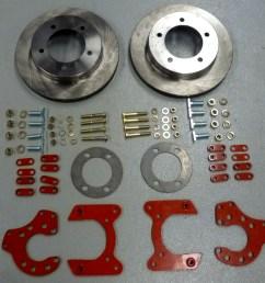 9 rear disc brake conversion kit w 3 8 studs [ 1200 x 980 Pixel ]