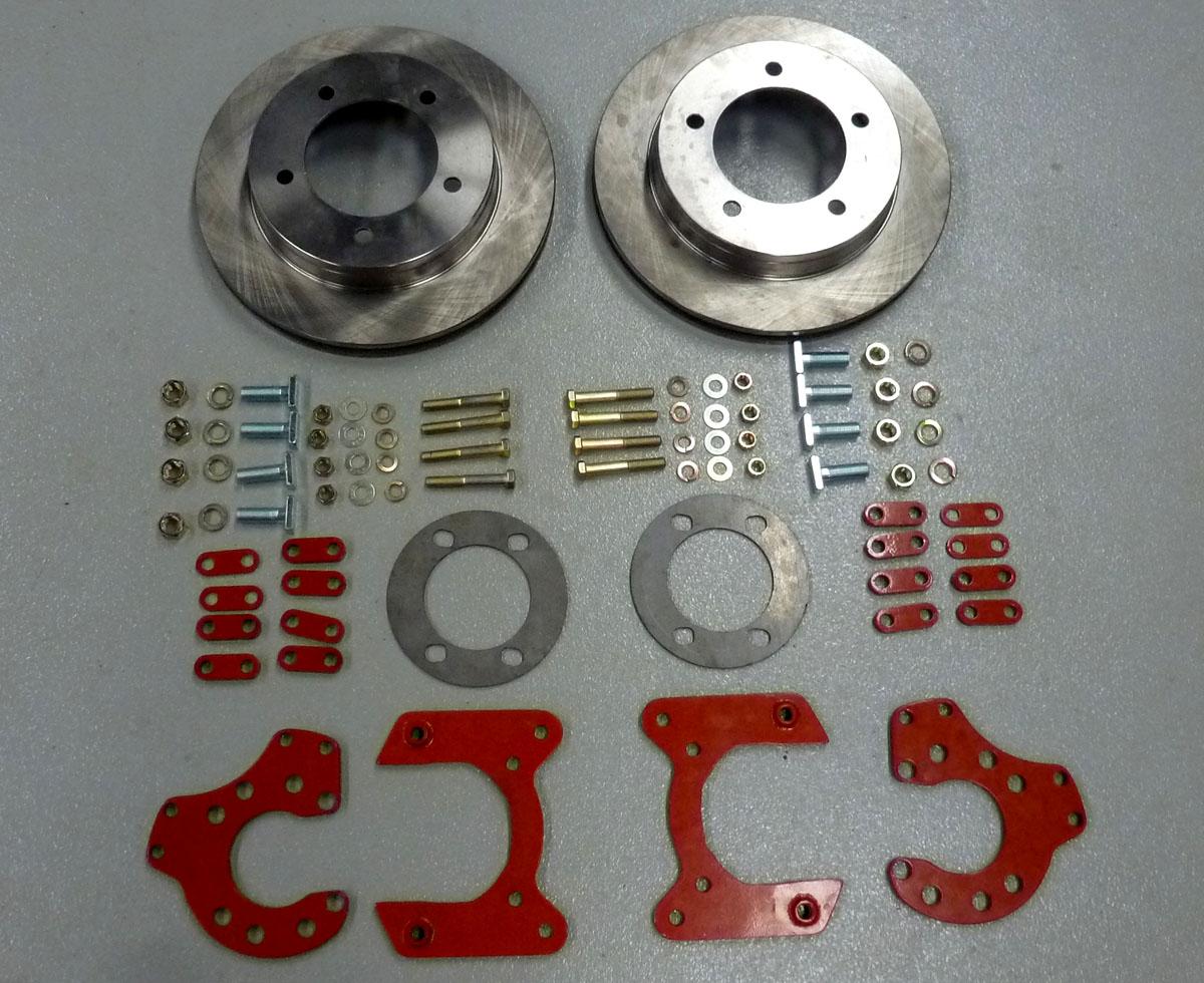 hight resolution of 9 rear disc brake conversion kit w 3 8 studs