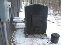 wood burning furnace forced air k