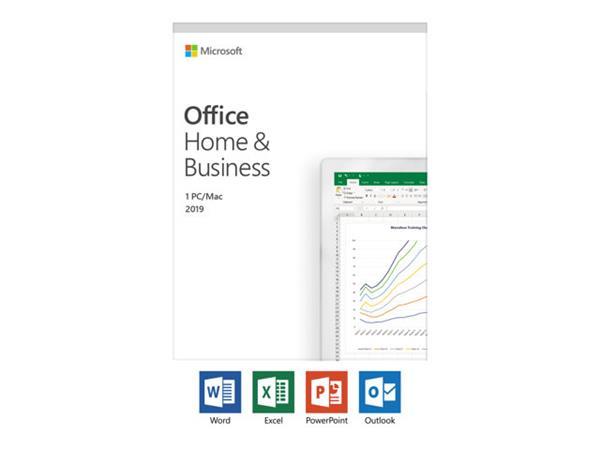 Microsoft Office Home & Business 2019 (Medialess, 1 PC