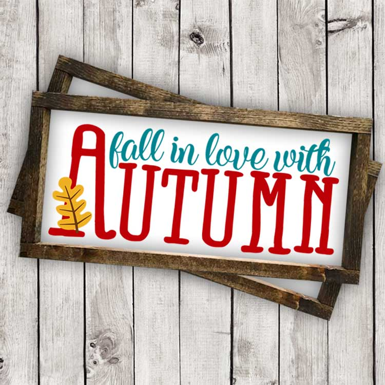 Download Fall in Love with Autumn Cut File - SVG, EPS, AI, DXF, PNG ...