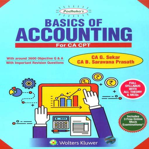 CA CPT Accounting Book by G Sekar, B Saravana for June 2018 Exam