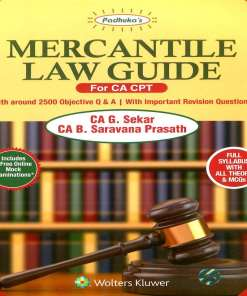 CA CPT Mercantile Law Guide By G Sekar, B Saravana Prasath for June 2018