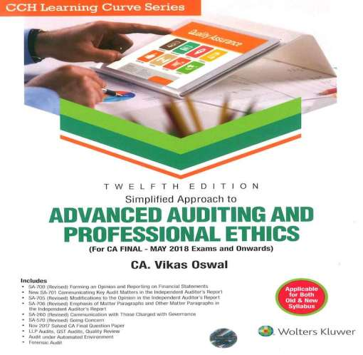 CA Final Audit Book by Vikas Oswal for May 2018 Exam (Old, New Syllabus)