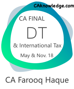 CA Final DT and International Tax Video Lectures for May, Nov 2018