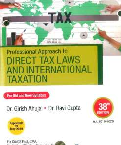 CA Final Direct Tax Book by Girish Ahuja for May 2019 (Old and New Syllabus)