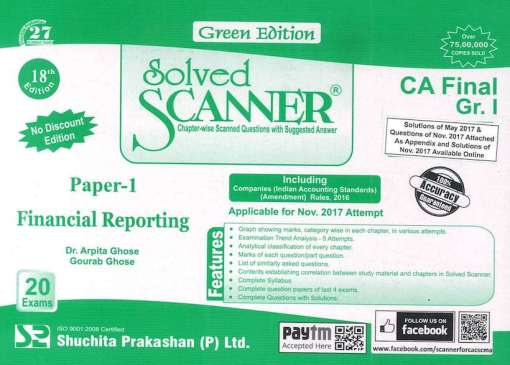CA Final Financial Reporting Scanner by Arpita Ghose for May 2018 Exam