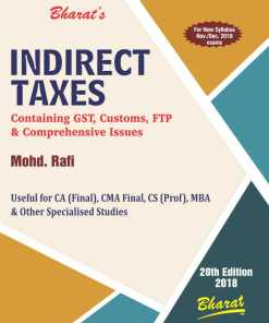 CA Final Indirect Tax book by Mohd Rafi for Nov 2018 Exam (New Syllabus)