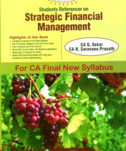 CA Final SFM Book by B Saravana Prasath for May 2019 (New Syllabus)