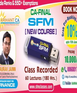 CA Final SFM Pen Drive Class by CA Gaurav Jainn Nov 2018 (new syllabus)
