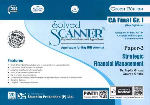 CA Final SFM Scanner by Arpita Ghose for May 2018 Exam (New Syllabus)