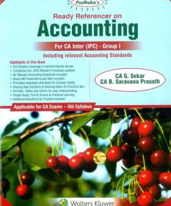CA IPCC Accounting Book by G Sekar, B Sarvana Prasath for May 2019 (Old Syllabus)