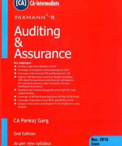 CA IPCC Auditing and Assurance Book by CA Pankaj Garg for Nov 2018 Exam