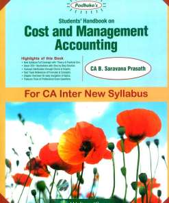 CA IPCC Costing FM Book by B Saravana Prasath for May 2019 (New Syllabus)