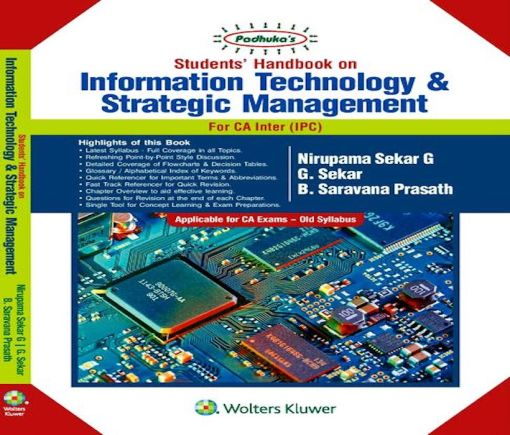 CA IPCC ITSM Book by Nirupama Sekar, G Sekar for Nov 2018 (Old Syllabus)