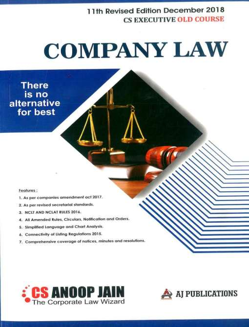 CS Executive Company Law Book by Anoop Jain for Dec 2018 Exam
