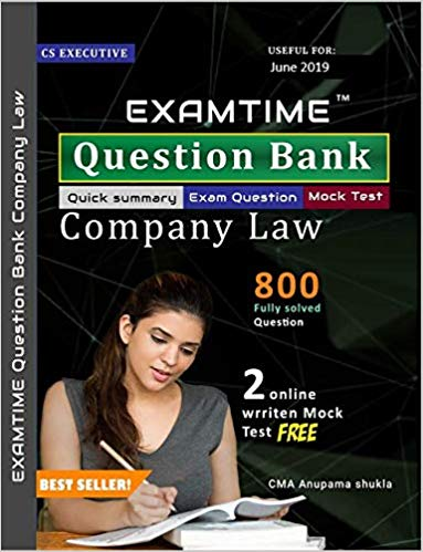 CS Executive Company Law Examtime Question Bank For June 2019