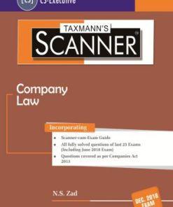 CS Executive Company Law Scanner by NS Zad for Dec 2018 Exams