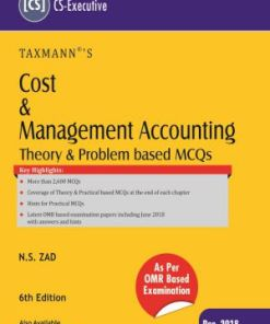 CS Executive Cost and Management Accounting Book By NS ZAD for Dec 2018 Exam