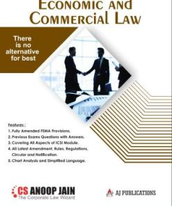CS Executive Economic and Commercial Law Book by Anoop Jain for Dec 2018 Exam