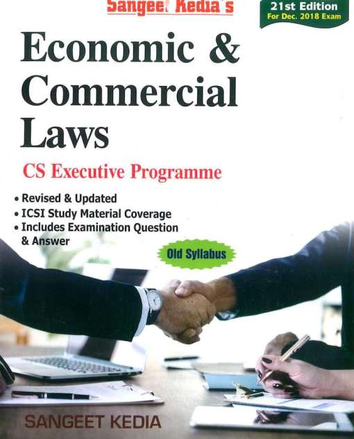 CS Executive Economic and Commercial Law Book by Sangeet Kedia for Dec 2018 Exam