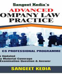 CS Professional Advance Company law and Practice Book By Sangeet kedia for June 2018 Exam