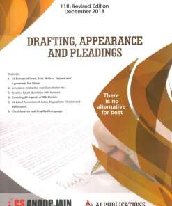 CS Professional Drafting, Appearances and Pleadings Book by Anoop Jain for Dec 2018 Exam
