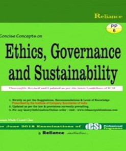 CS Professional Ethics, Governance and Sustainability Book by S.K. Aggarwal, Abha Aggarwal For June 2018 Exam