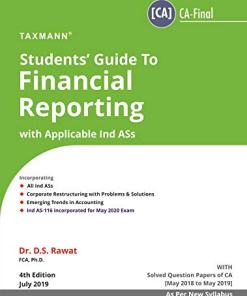 CA Final Financial Reporting Book by DS Rawat Nov 2019