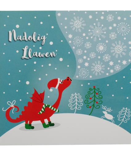 Winter Dragon Welsh Christmas Cards Pack Of 10 Cancer