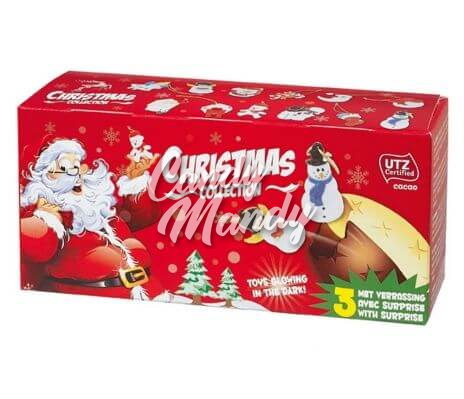 Christmas Choc. Surprise Eggs 3-pack UTZ