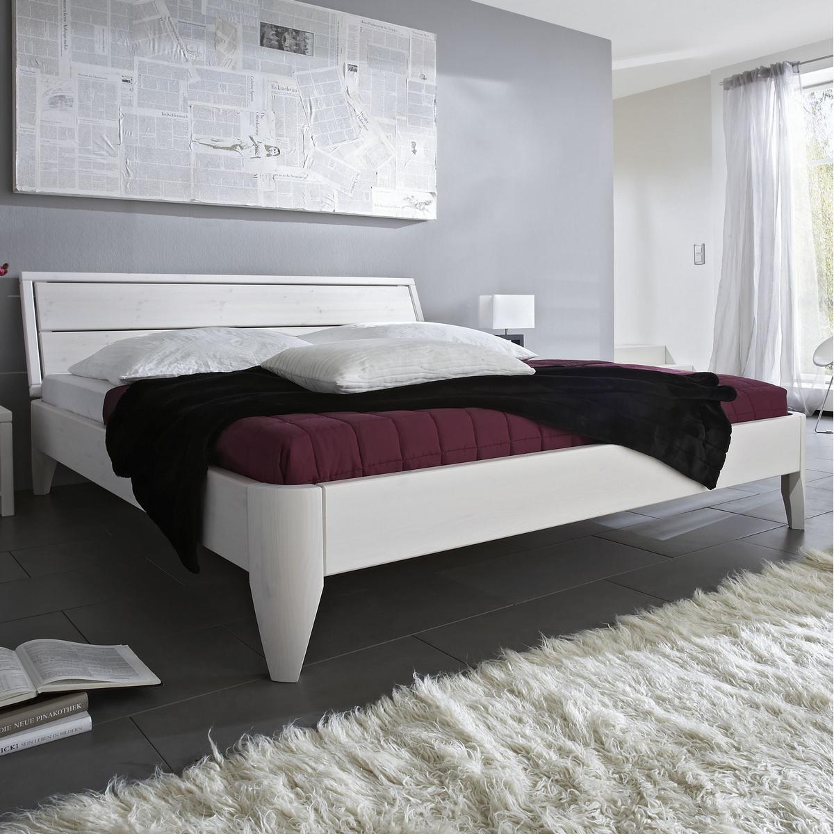 De Schlafzimmer Betten Breite Cm Massivholz Einzelbett X Holzbett Bett Kiefer Massiv Weiss Lackiert L