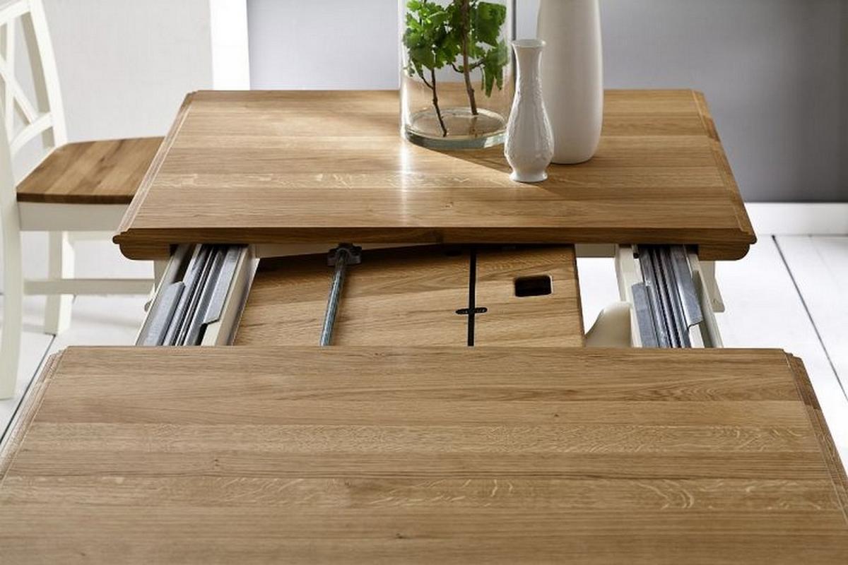 esstisch massivholz ausziehbar 140 - boisholz, Moderne