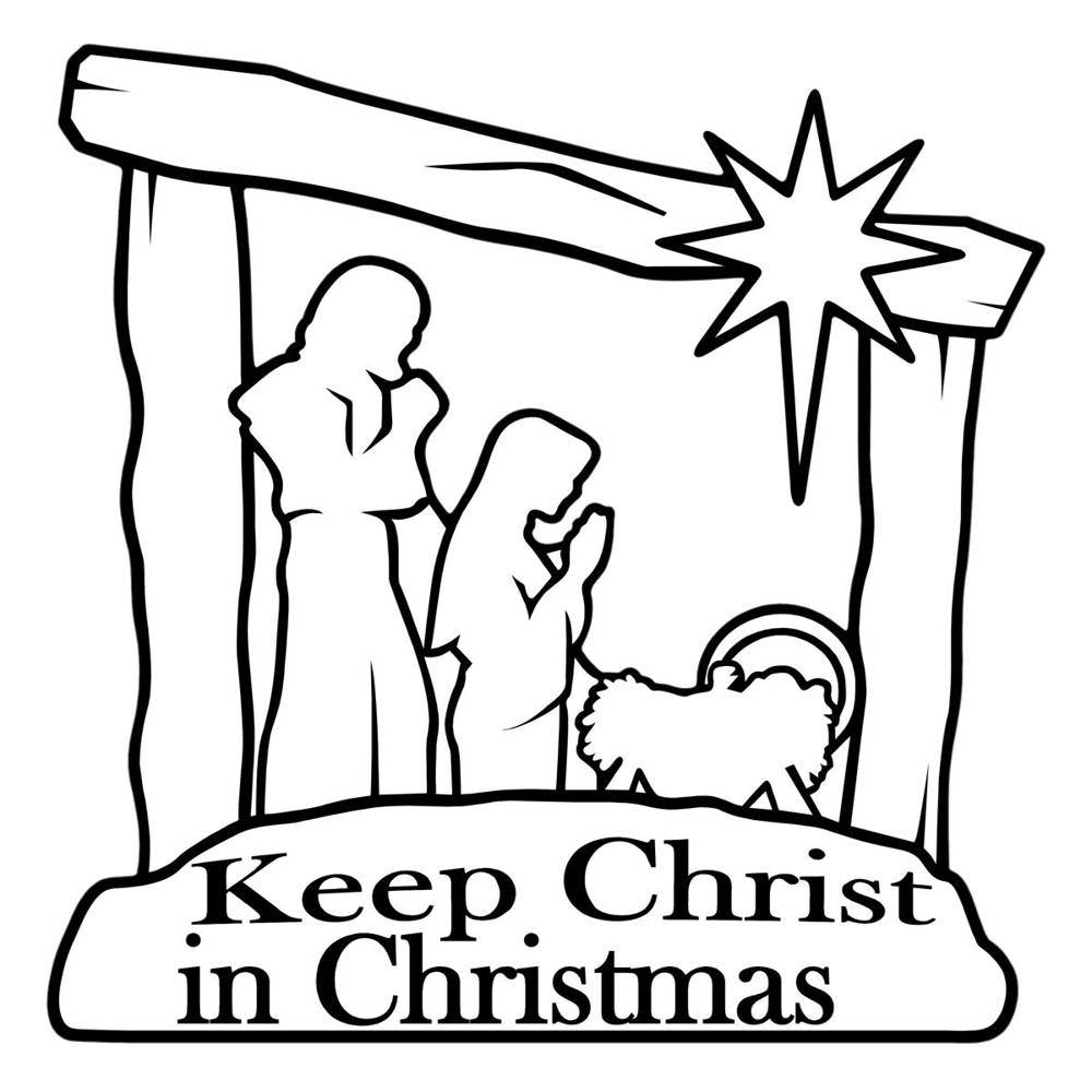 Nativity Auto Magnet Keep Christ In Christmas