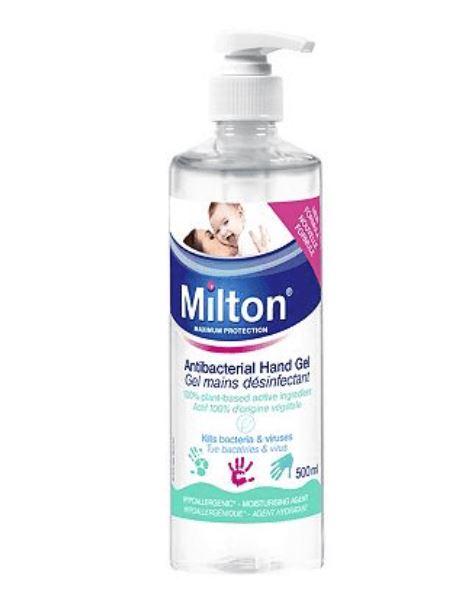 Milton Antibacterial Hand Gel Hand Sanitiser 500ml